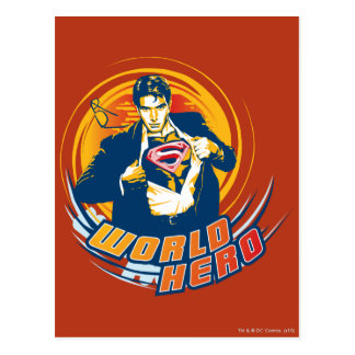 Superman World Hero Postcard