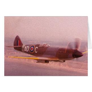 Supermarine Spitfire Airplane Card