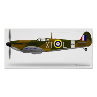 Supermarine Spitfire - Customized Poster