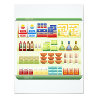 Supermarket Goods Shelf Invitations