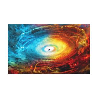 Supermassive Black Hole Illustration Canvas Print