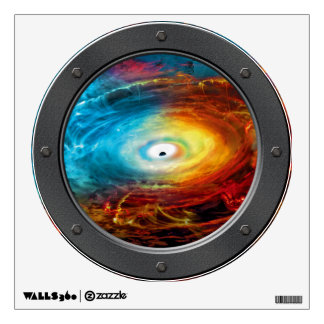Supermassive Black Hole Illustration Porthole View Wall Sticker