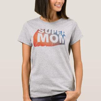 SuperMom 3D Gradient Pattern T-Shirt