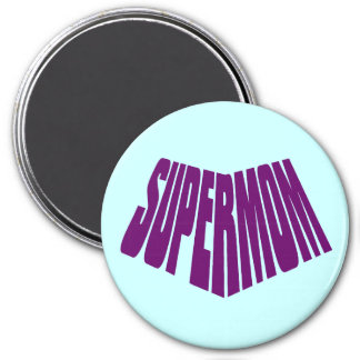 SuperMom: My mother is my super hero 3 Inch Round Magnet
