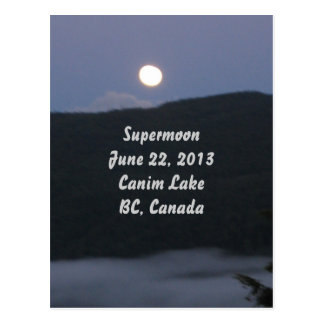 Supermoon 2013 Postcard