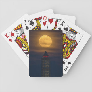 Supermoon Over Washington Monument Playing Cards