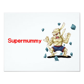 "Supermummy 4.25"" X 5.5"" Invitation Card"