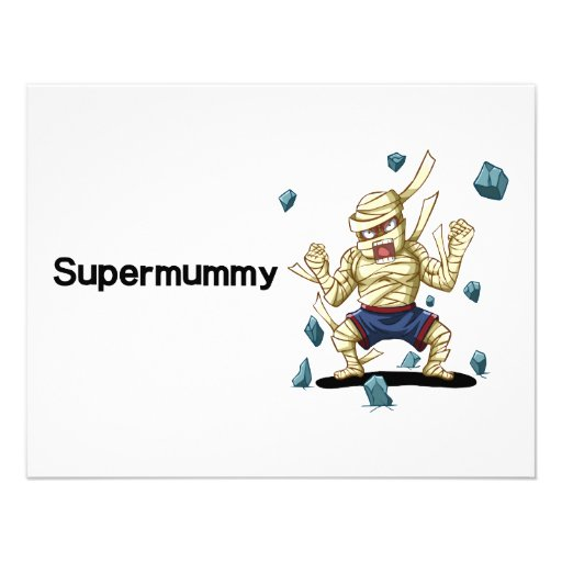 Supermummy Personalized Announcement