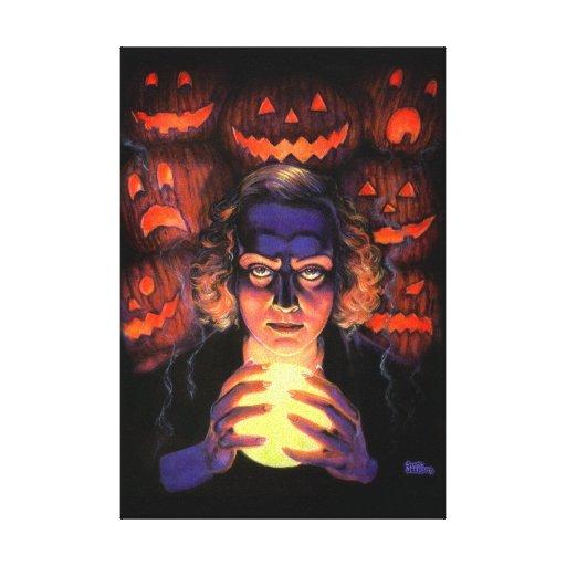 Supernatural Halloween Fortuneteller Witch Canvas Print