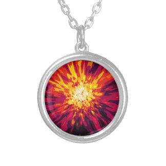 Supernova Blast Silver Plated Necklace