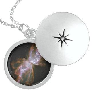 Supernova Butterfly Sterling Silver Necklace