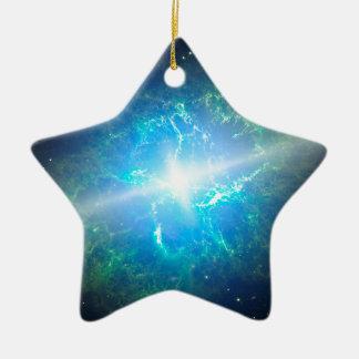 Supernova Ceramic Star Ornament