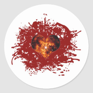 Supernova Heart Galaxy Classic Round Sticker