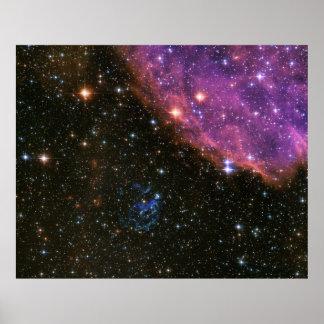 Supernova Remnant SNR E0102 Poster