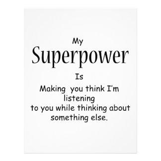 Superpower Custom Letterhead