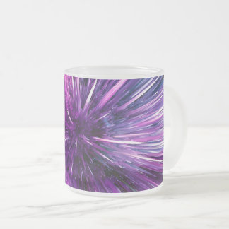 supersonic abstract frosted glass coffee mug