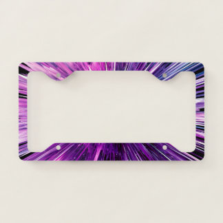 supersonic abstract license plate frame