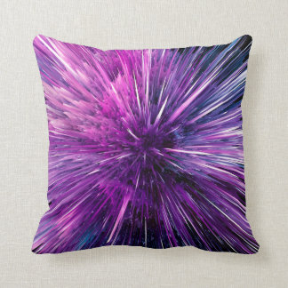 supersonic abstract throw pillow