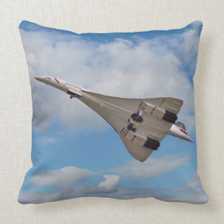 Supersonic Concorde G-BOAB Throw Pillow