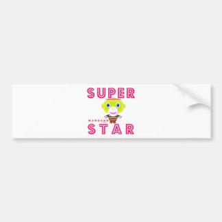 SuperStar 2-Cute Monkey-Morocko Bumper Sticker
