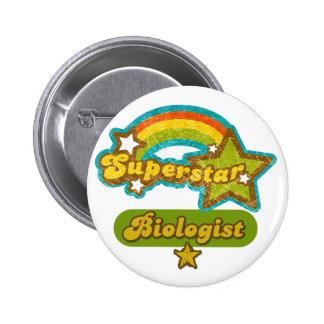 Superstar Biologist Pinback Buttons