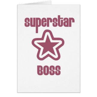 Superstar Boss Greeting Cards