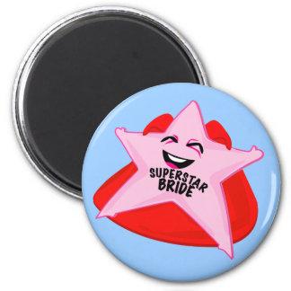 superstar bride funny magnet! 2 inch round magnet