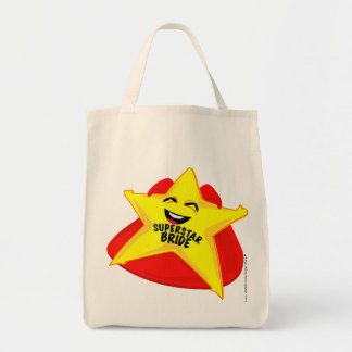 superstar bride humorous  bag! grocery tote bag