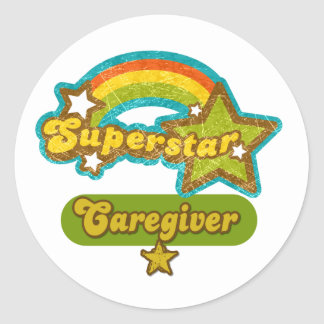 Superstar Caregiver Sticker