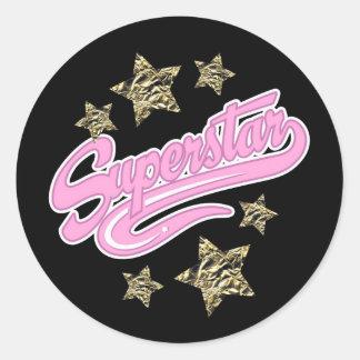 'Superstar' Classic Round Sticker