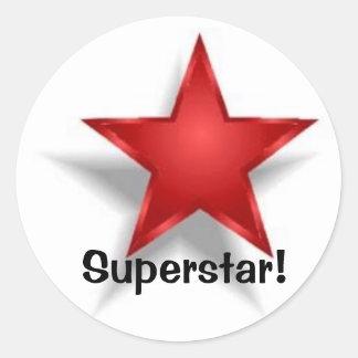 Superstar! Classic Round Sticker