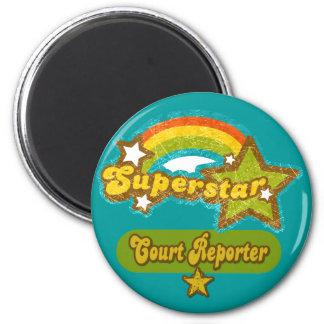 Superstar Court Reporter 2 Inch Round Magnet