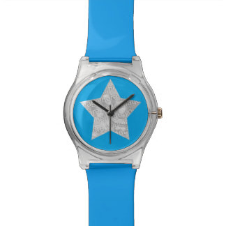 superstar de photo bleu montres cadran
