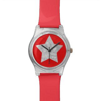 superstar de photo rouge montres