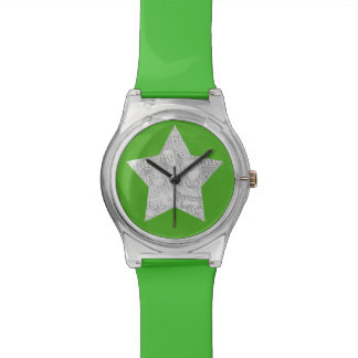 superstar de photo vert montres cadran
