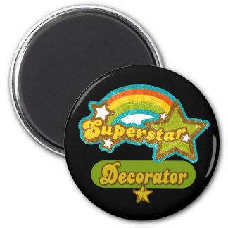 Superstar Decorator 2 Inch Round Magnet