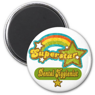 Superstar Dental Hygienist 2 Inch Round Magnet