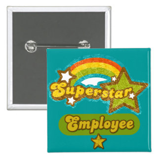 Superstar Employee 2 Inch Square Button