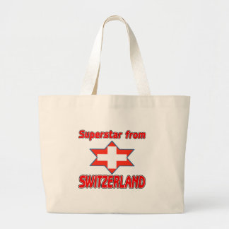 Superstar from Switzerland Large Tote Bag