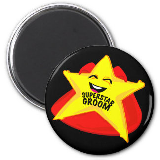 superstar groom funny magnet!