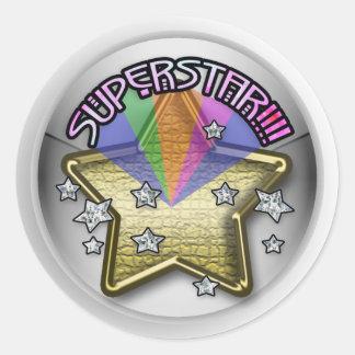 superstar kid classic round sticker
