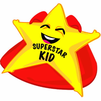 superstar kid funny photo  sculpture! standing photo sculpture
