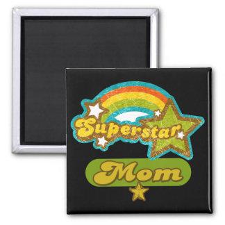 SuperStar Mom Square Magnet