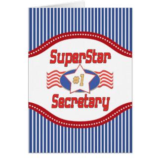 Superstar Number One Secretary Card