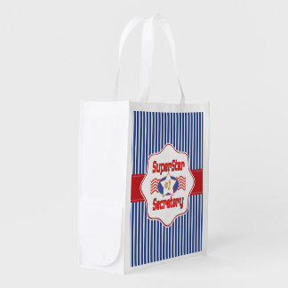 Superstar Number One Secretary Reusable Grocery Bag