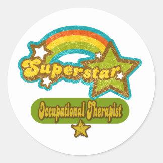 Superstar Occupational Therapist Round Sticker