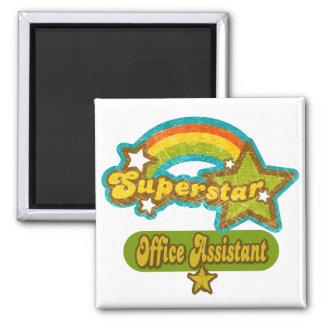Superstar Office Assistant Square Magnet