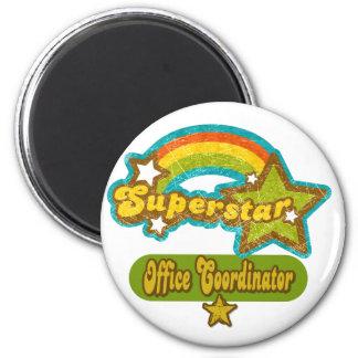 Superstar Office Coordinator 2 Inch Round Magnet