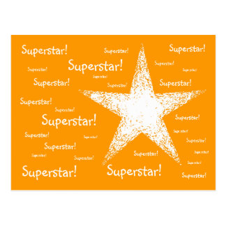 Superstar! | Orange Postcard