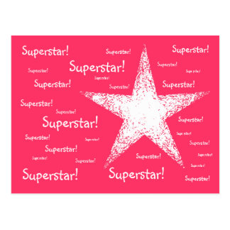 Superstar! | Pink Postcard